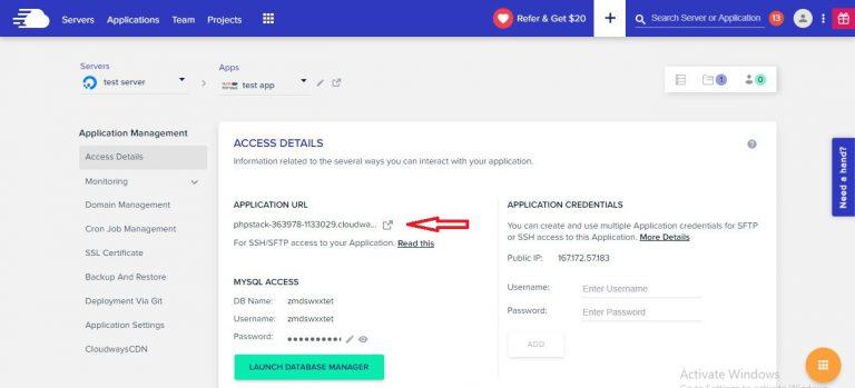 application url