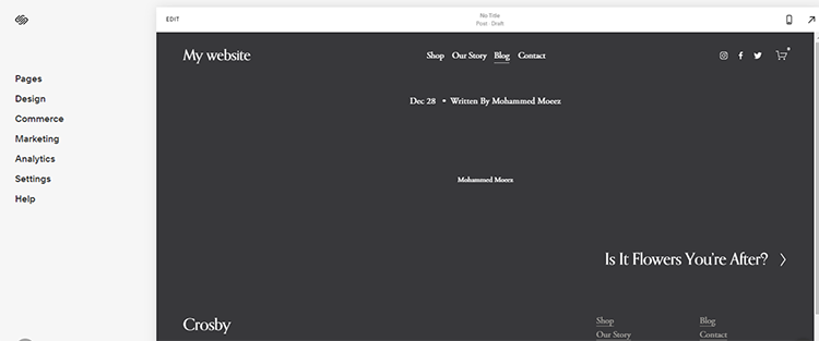 start with squarespace
