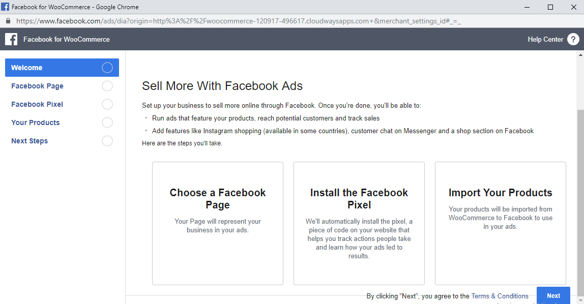 store with facebook ads