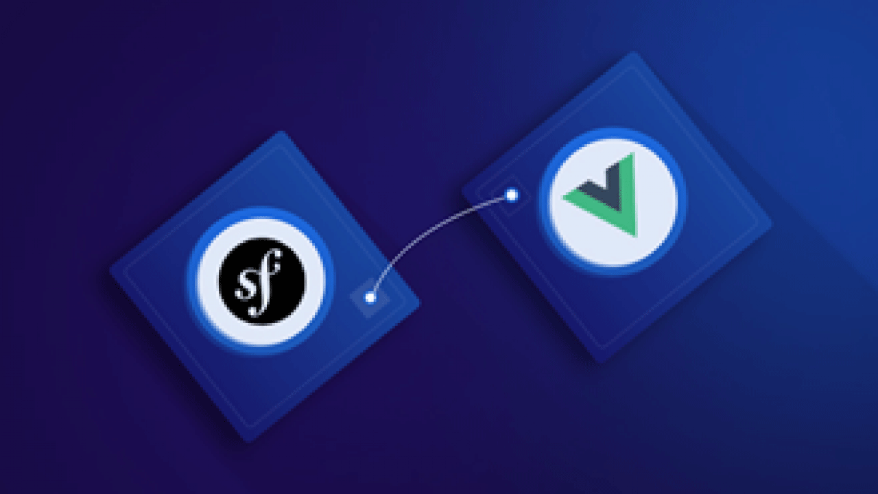 Use Vue js to set up the frontend for Symfony apps