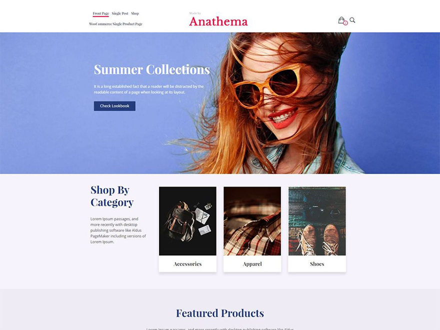 Anathema Free WooCommerce Theme