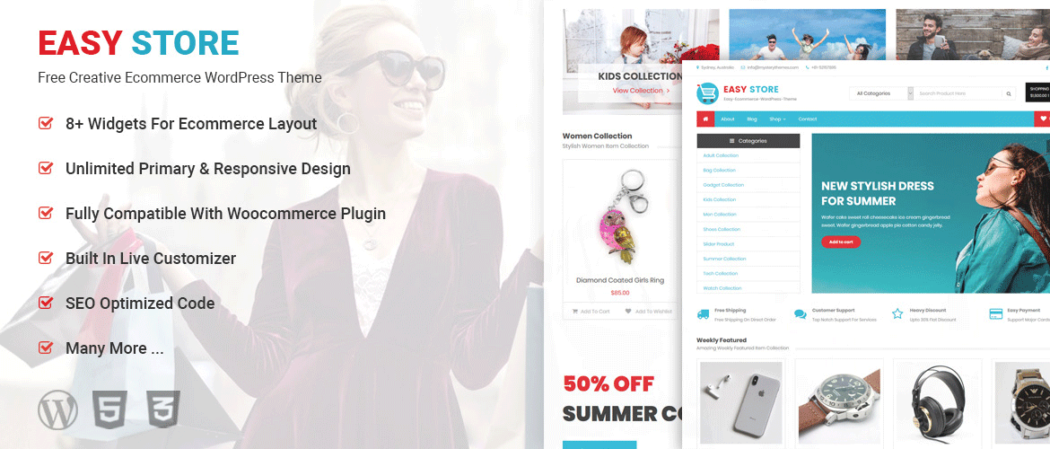 EASY STORE Free WooCommerce Theme