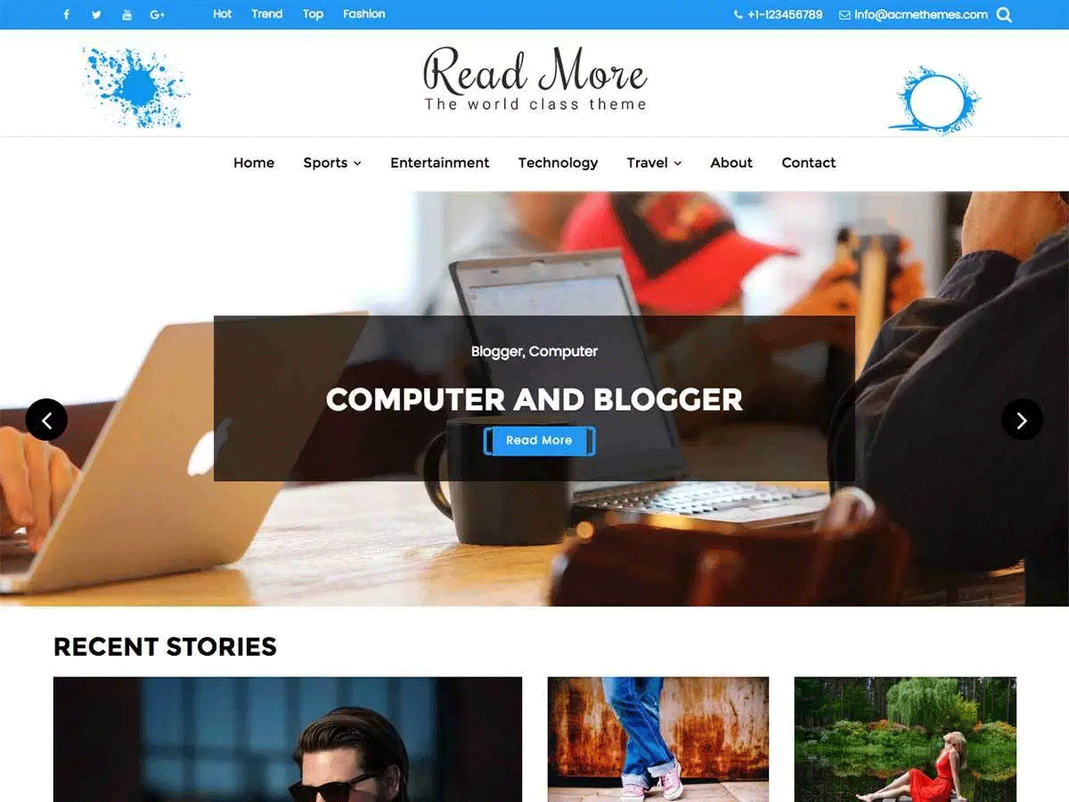 Read More Free WooCommerce Theme