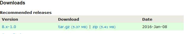 Drupal theme download