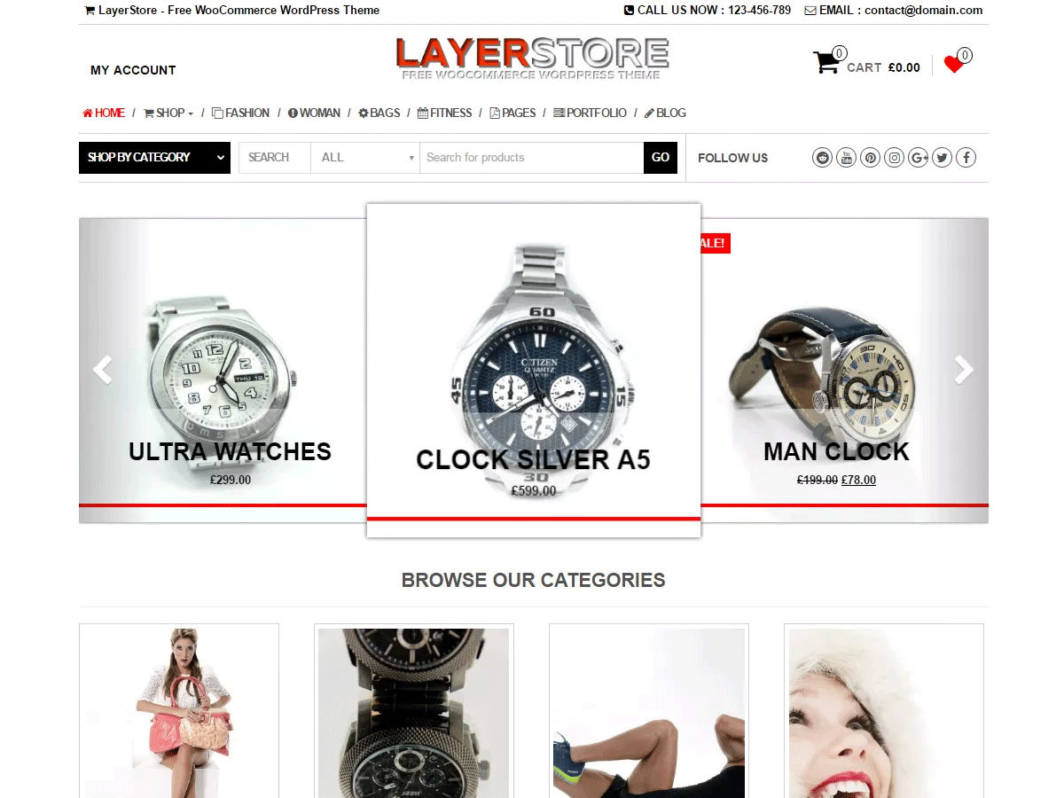 LayerStore Free WooCommerce Theme