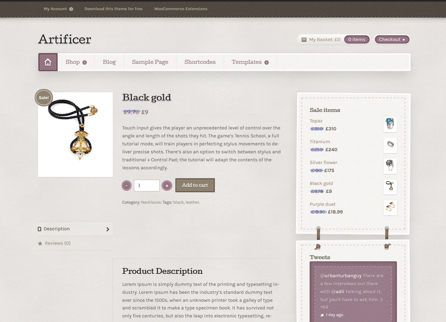Artificer Free WooCommerce Theme