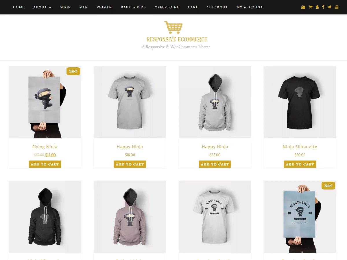 Responsice Free WooCommerce Theme