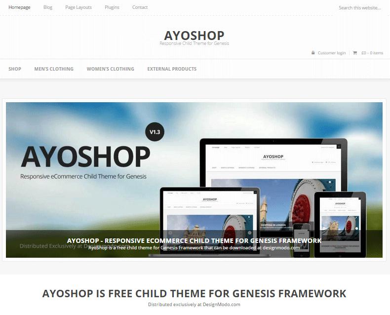 AYOSHOP Free WooCommerce Theme