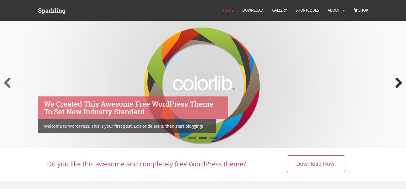 Sparkling Free WooCommerce Theme