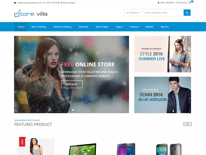 StoreVilla Free WooCommerce Theme