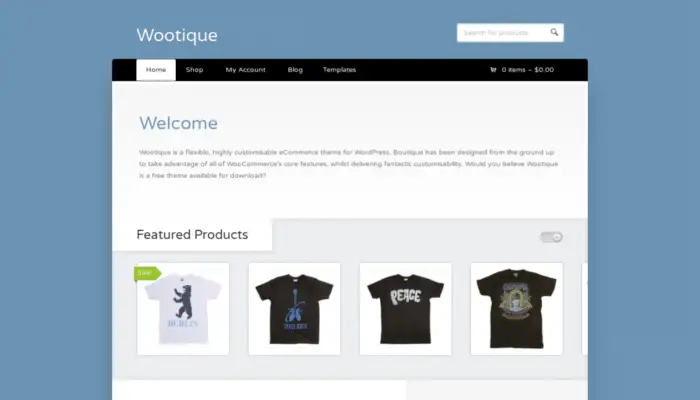 Wootique Free WooCommerce Theme