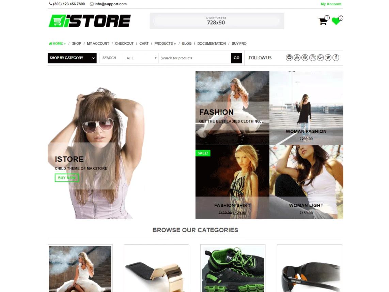 iStore Free WooCommerce Theme