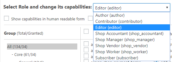 user editor role