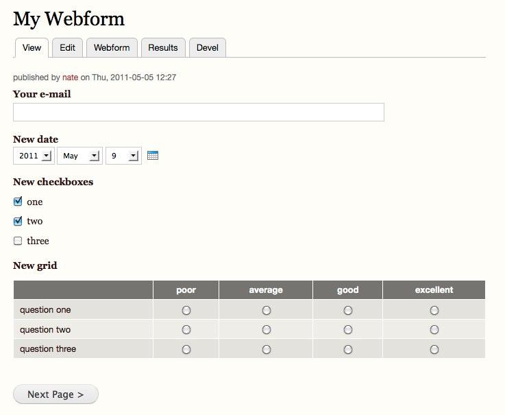 webform module