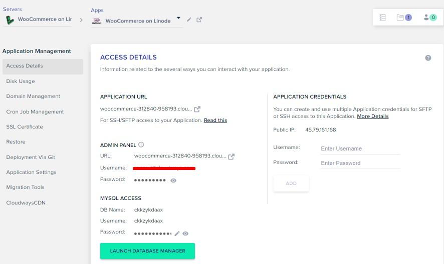 woocommerce on linode - application management