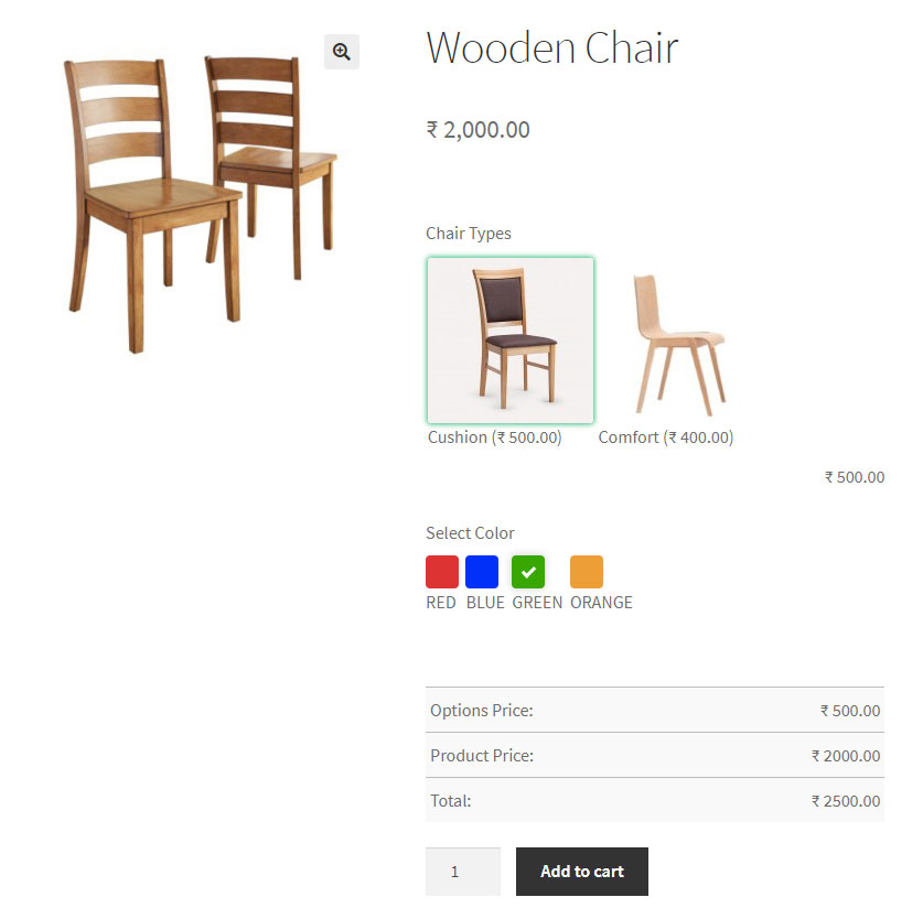 wooden chair color