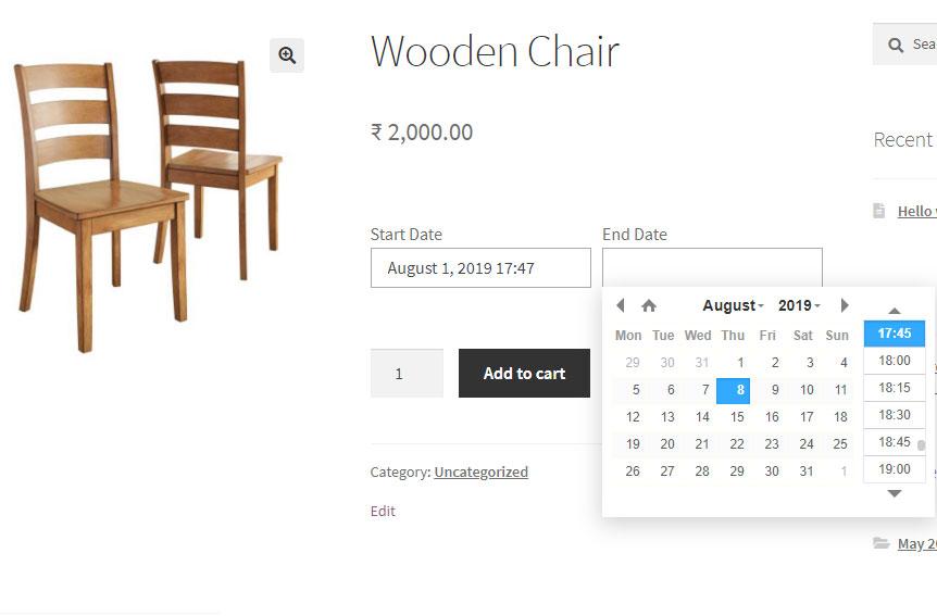 wooden charir
