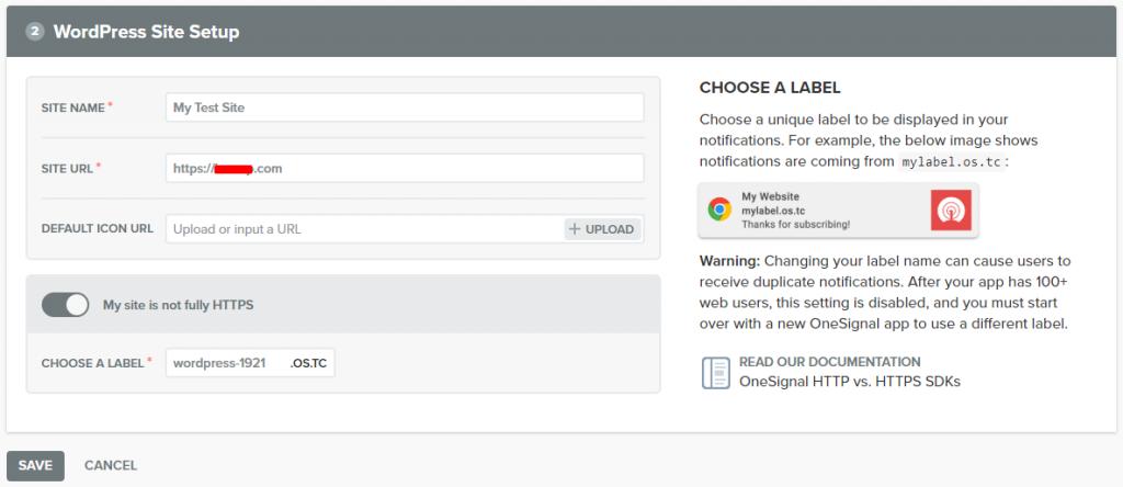wordpress site setup
