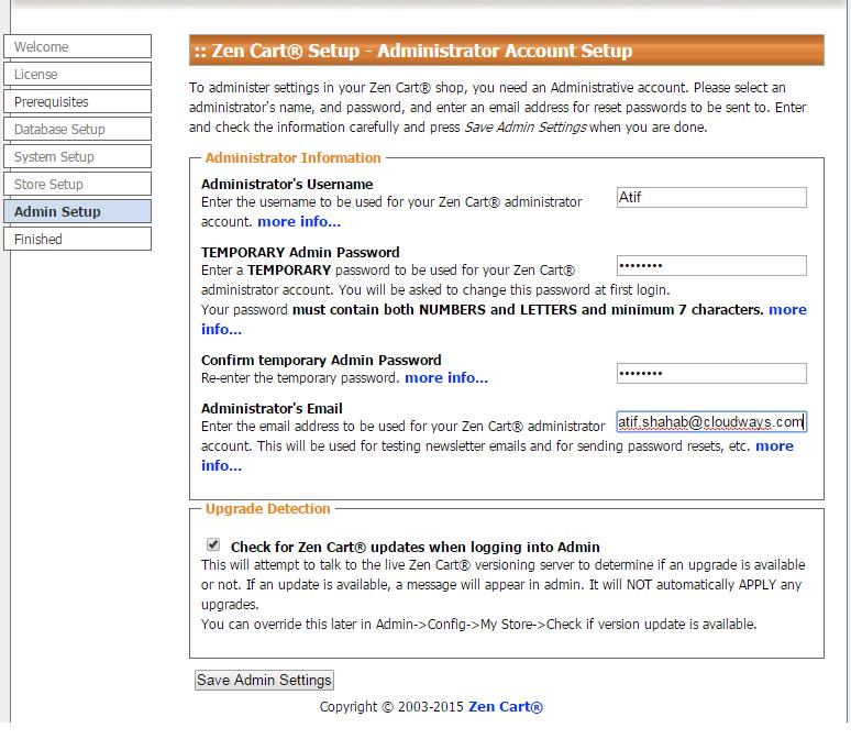 ZenCart Installation