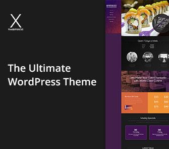 x theme wordpress theme
