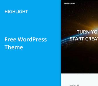 highlight wordpress theme