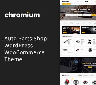 Chromium WordPress theme for Automotive websites