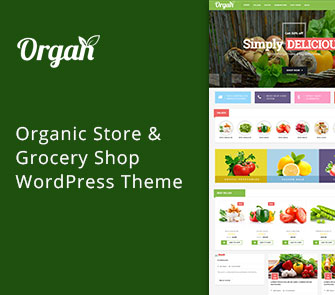 Organ WordPress theme for Grocery Stores